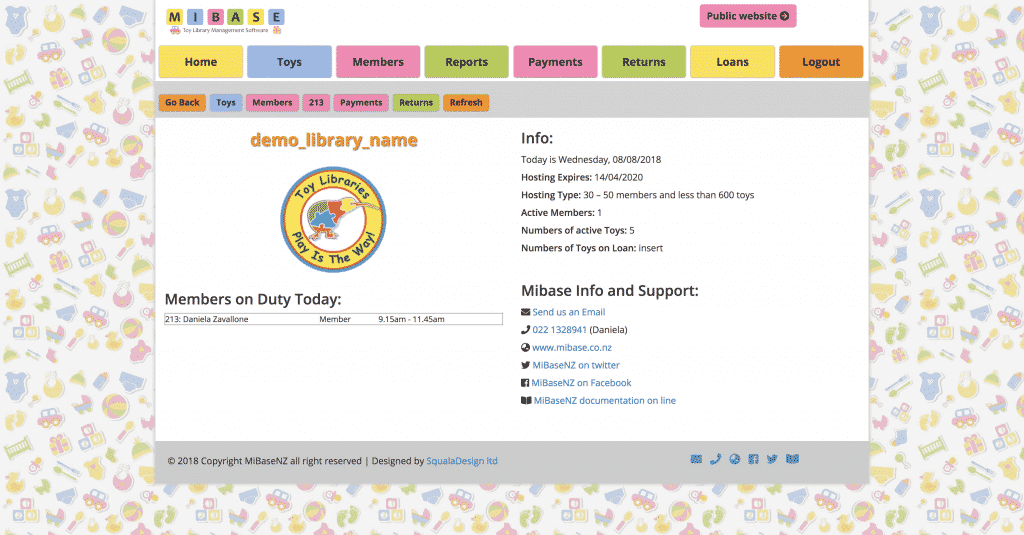 New MiBaseNZ Administration design