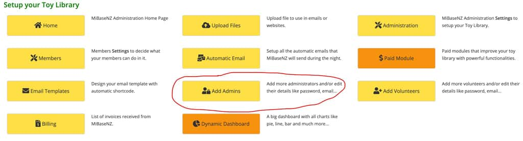 Add and modify an admin