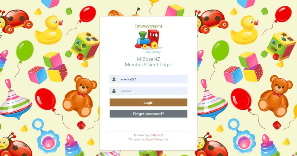 Member login page