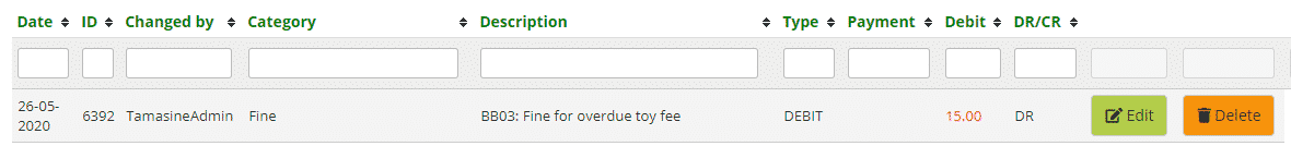 Overdue toy fee