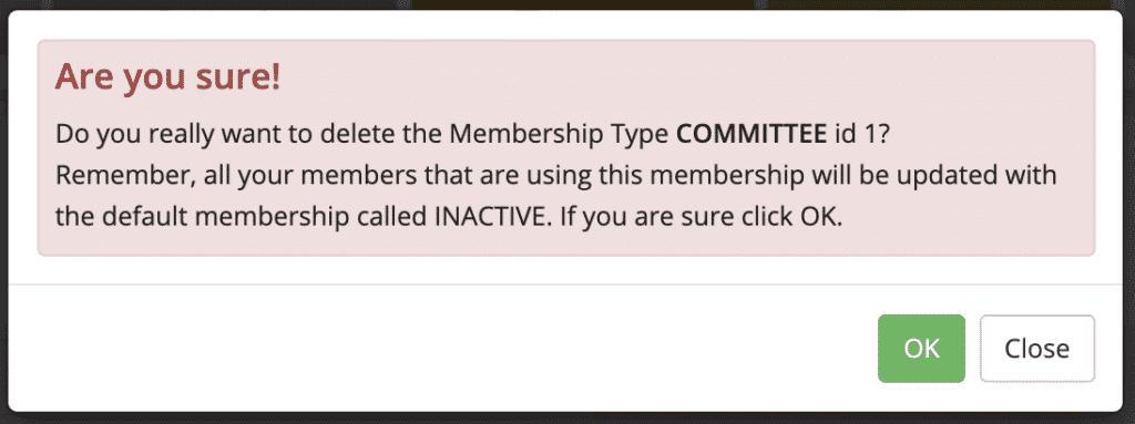 Delete Membership message - MiBaseNZ Documentation
