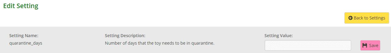 Editing quarantine function