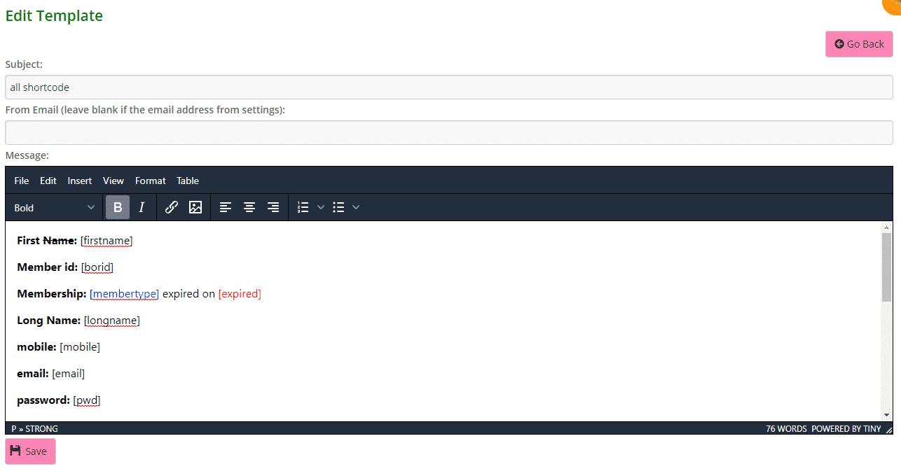 Generic bulk email template