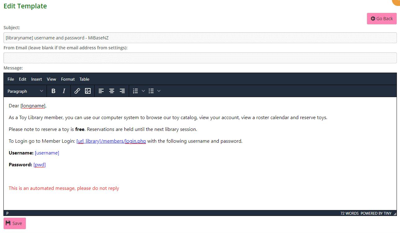 Member login email