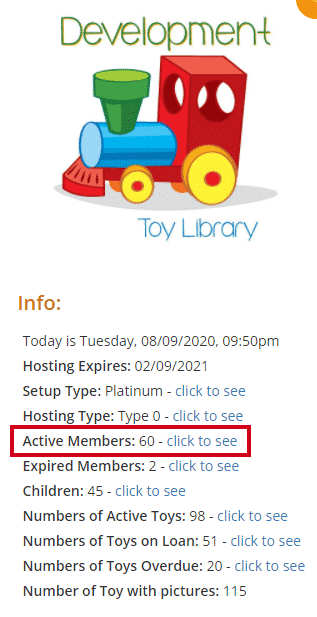 Accessing members List via the Homepage