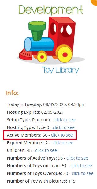 Accessing members List via the Homepage