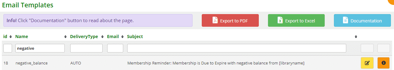 Due to expire with negative balance email template