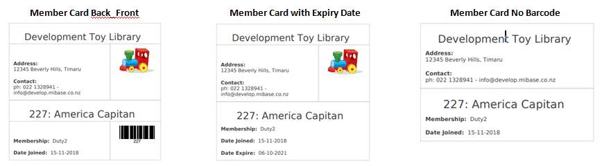 Member Card Types
