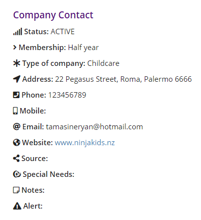 Company Contact Details