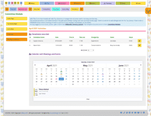 Committee Module Home Page