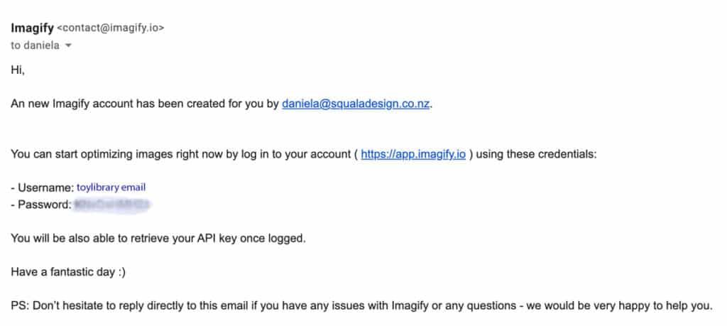 Imagify email login - MiBaseNZ Documentation