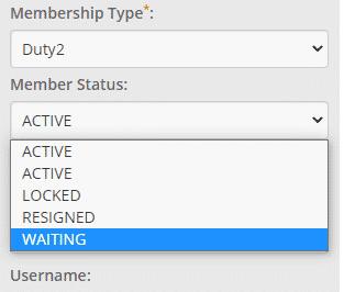 Member Status - waiting