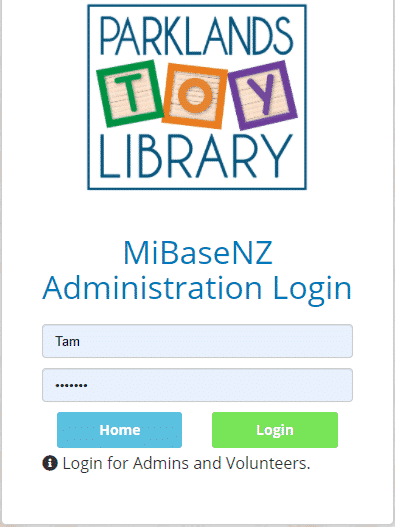 Admin login page - old & new